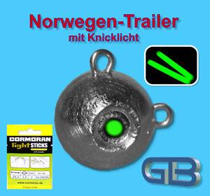 Norwegen-Trailer-mit-MINI-Knicklicht-gelb-3-0-x-25mm-Jigkopf-50g-170g