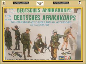 6 1//35 Revell D.A K - FREE SHIPPING !!! Deutsche Afrika Korps Figures