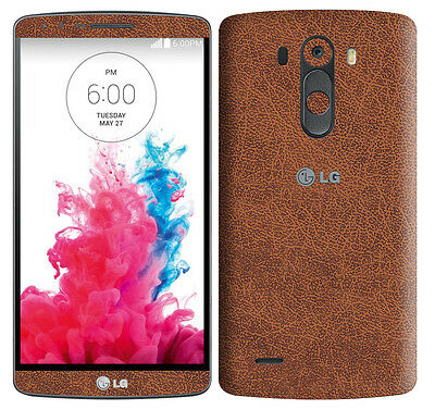 Textured Skin Sticker For LG G3 D855 Carbon Metal Wood Matt Leather Decal Wrap
