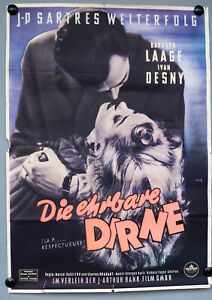 Kino-Film-Plakat-Die-ehrbare-Dirne-J-P-Sartres-1953-DIN-A-1-Poster