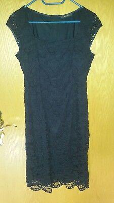 Kleid Esprit 9 dunkelblau mit Spitze  eBay
