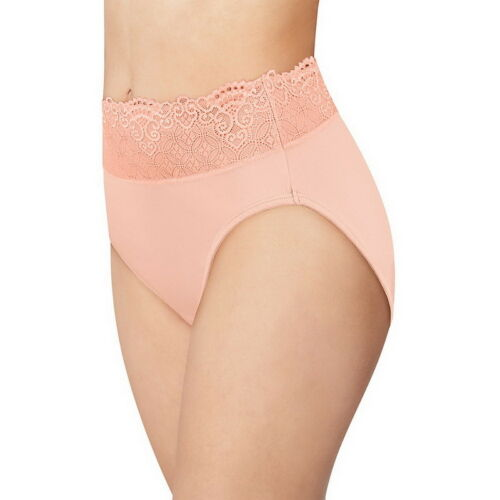BALI  Passion for Comfort Lace Band Hi-Cut Pale Pink Brief Size 9//2XL