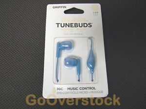 NEW GRIFFIN TUNEBUDS Stereo Headset with inline Mic and Music Control - EarBuds