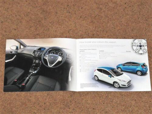 2016 Ford Fiesta Zetec BROCHURE a colori edizioni di vendita-Zetec BIANCO BLU Zetec