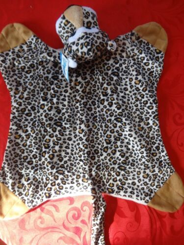 Grriggles Savannah Snuggler Cheetah Puppy//Dog Comfort Toy Squeaker// Blanket NEW