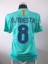 Andres INIESTA #8 Barcelona Away Football Shirt Jersey 2010/11 (M)