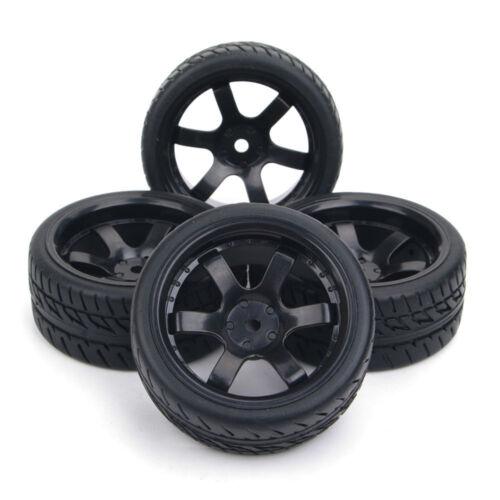 Set 4Pcs RC Flat Drift Tires Wheel Rim Hub PP0072/&150 For HSP 1:10 On-Road Car