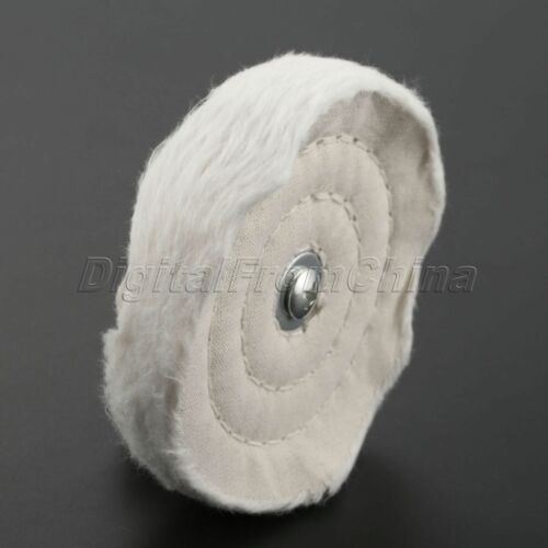 6 mm tige 100 mm Round Chiffon Polissage Roue de polissage pad tampon Puissance Outil Rotatif