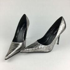 MICHAEL ANTONIO Womens Size 7.5 Shoes High Heels Stilettos Pointed Toe Silver