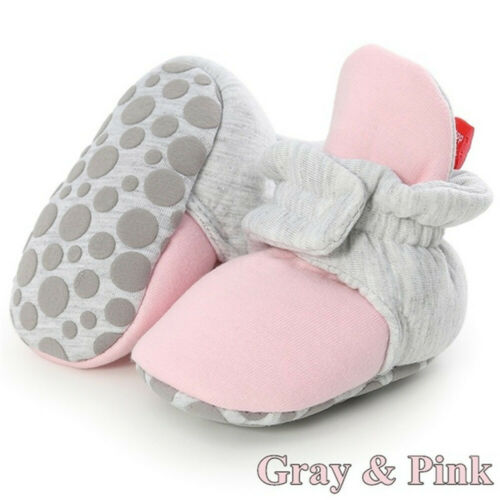 Newborn Baby Socks Shoes Boy Girl Star Toddler First Walkers Booties Cotton