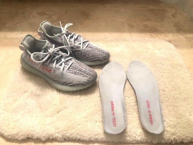 Yeezy X Adidas 2017 Boost 350 V2 bluee Tint Sneakers Size 7.5 Mens