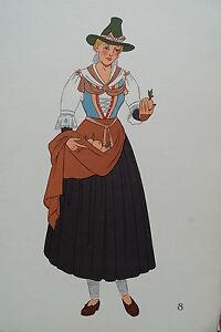 -2-5-8 Gravure Costume De Jeune Femme De Zillertal (tyrol) Autriche Grandes VariéTéS