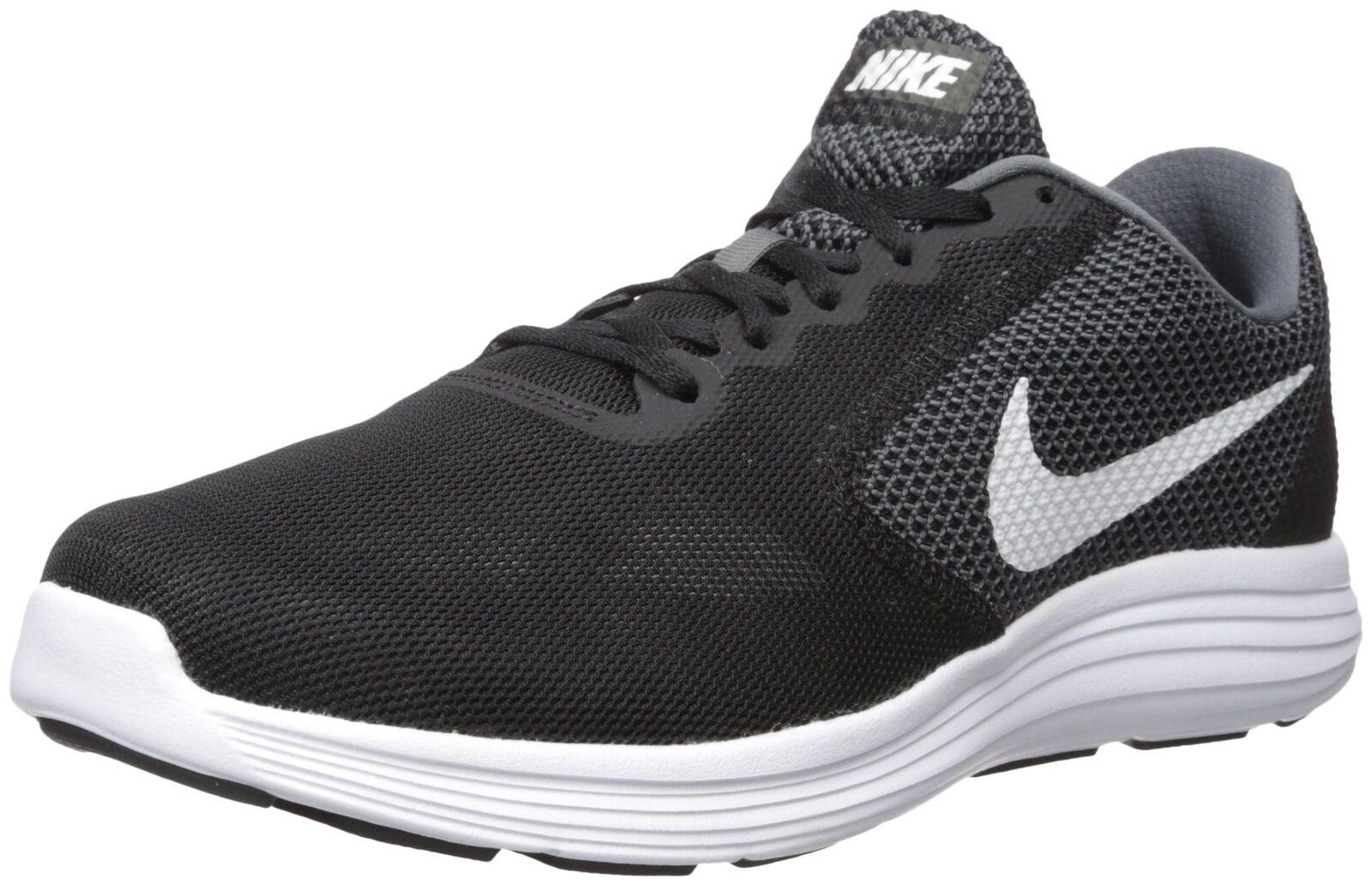 Nike hombre Revolution 3 running zapatos gris oscuro 11,5 / blanco / negro 11,5 oscuro XW nosotros ba411e