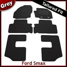 Ford S-Max Mk1 7-Seater 2012-2015 Round Eyelets Tailored Carpet Floor Mats GREY
