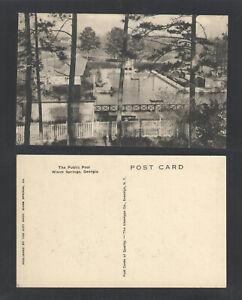 1940s-THE-PUBLIC-POOL-WARM-SPRINGS-GEORGIA-POSTCARD