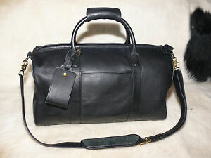 41c5fb9609 Image is loading Coach-Black-Leather-Cross-Body-Duffle-Bag-F8S-