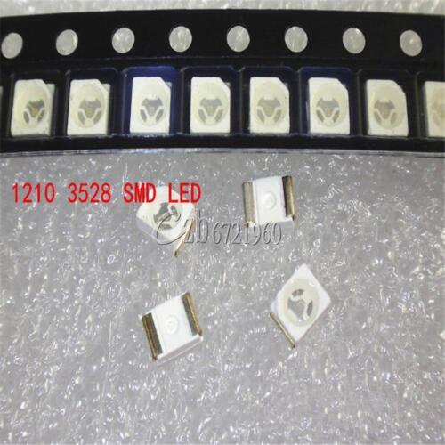 100PCS 3528 1210 SMD SMT PLCC-2 LED Light DIY 20mA Super Bright