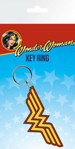 WONDER WOMAN RUBBER KEYCHAIN KEY RING WW LOGO