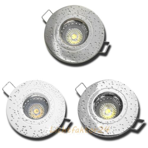 1-10er Set Bad Einbaustrahler Nautik44 230V IP44 5W LED Spots über Bad /& Dusche