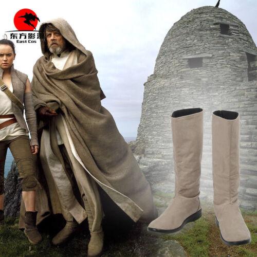 Star Wars The Last Jedi Luke Skywalker Cosplay Boots Shoes Custom Made