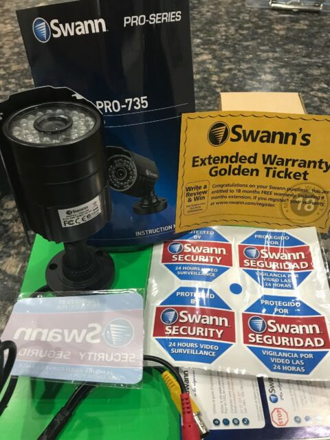 Swann Interior//Exterior Simulated//Fake//Imitation Security Camera w//Mount//Sticker