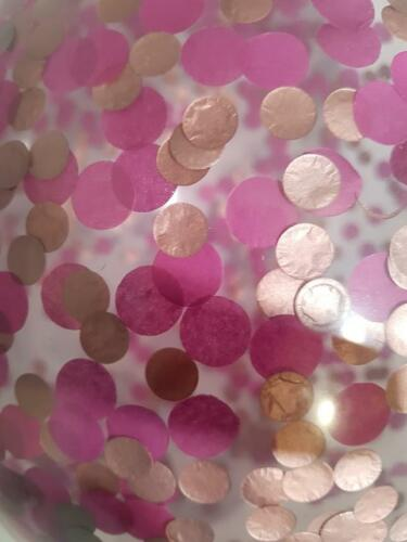 """6 x11/"""" CONFETTI BALLOONS pick variations Rose Gold with other cols FREE ribbon"""