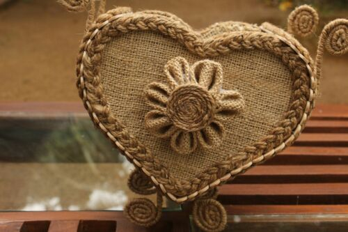 handmade jute flower  vases for home decor