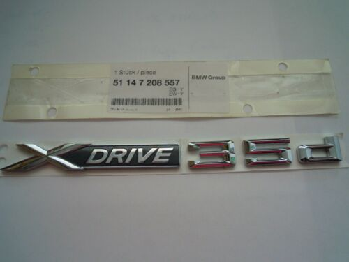 1 original BMW LOGO X Drive 35d per x6 e71 51147208557 NUOVO NUOVO