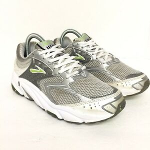 ab8014ee9a051 Brooks Ariel Women s Sz 8 White Silver Green Running Shoes Trainers ...