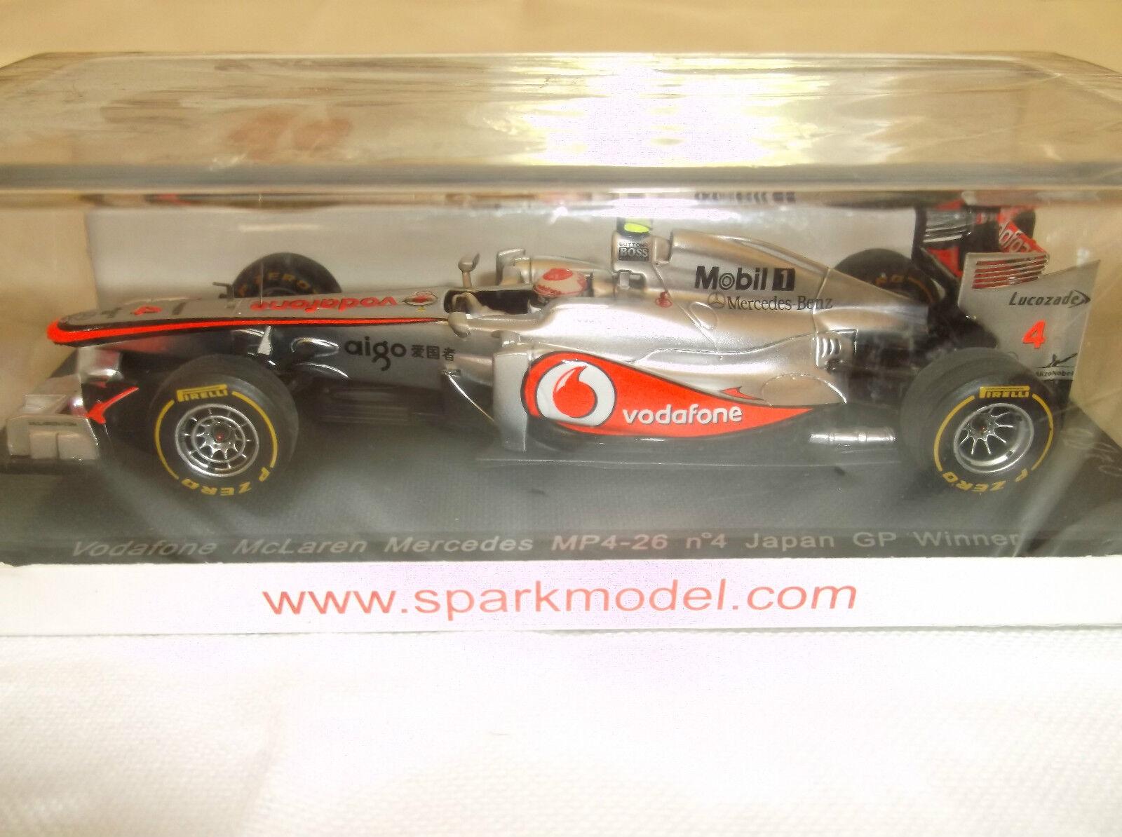 NEW Diecast SPARK F1  1 43 Jenson Button McLaren Mercedes MP4-26  Japan GP