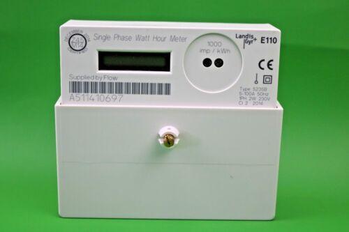 Compteurs d/'électricité Landis Gyr E110 Single Phase Watt Hour Meter 100 A Ofgem