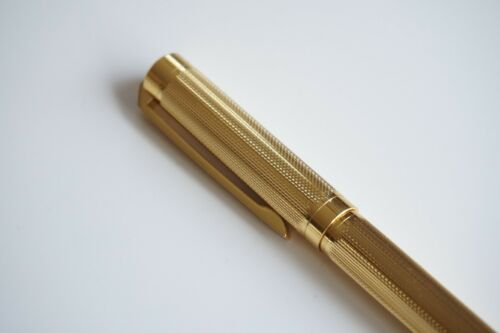 UK SOLD! JINHAO #155 GOLD PLATED CHISELLED OFFICE BALLPOINT PEN GT G2 INK