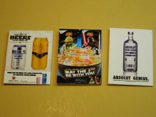 """Dollhouse Miniature 1/"""" 1//12 Scale Set of 3 Magazines with Star Wars covers"""