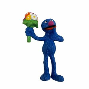 Applause Sesame Street Grover Bouquet Of Flowers Love Figure Cake Topper 80's