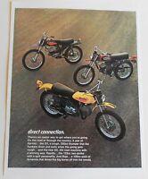 1972 Harley Davidson Sprint Sx350 Rapido 125 Baja 100 Brochure Sales Ad Vintage