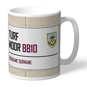 Burnley F.c - Personalised Ceramic Mug (street Sign)