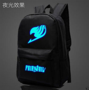 2017 Anime FAIRY TAIL Luminous Canvas Satchel Backpack knapsack Schoolbag