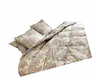 Buy Floral Goose Down   Feather Comforter Blanket 100 Organic Cotton ... 048796496