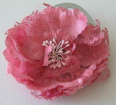 1 Nuovi Capelli Scrunchie Cravatta Bobble Banda Elastico Ponio Rosa Floreale Bouquet L 110mm- Gamma Completa Di Articoli