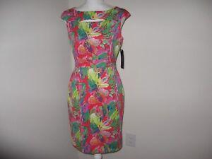 Tahari-ASL-Floral-Sheath-Dress-for-woman-Size-2-4-6-10-16-NWT-128