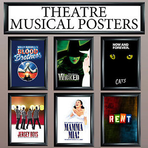 Image Is Loading MUSICAL THEATRE POSTERS UPTO A1 SIZE FRAMES AVAILABLE