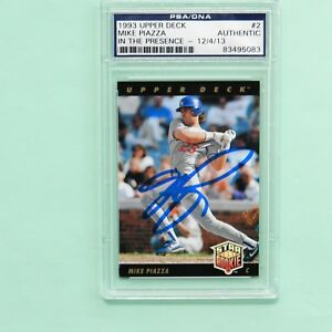 Details About Mike Piazza Autographed 1993 Upper Deck Rookie Card 2 Psadna
