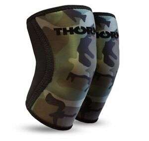 Knee Support Compression Sleeve Brace THORN+fit CAMO (2pcs) Weightlifting 6mm