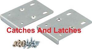 2 Hinge Repair Plates Screws Kitchen Bedroom Cabinet