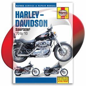 1970-2010 Harley Davidson Sportster Haynes Repair Manual 2534 Shop Service
