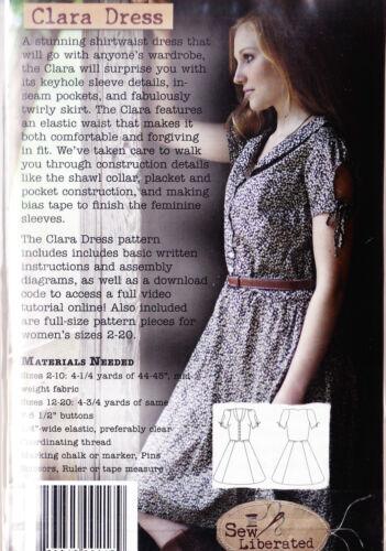 The Clara Dress PATTERN Sew Liberated pretty shirtwaist dress PATTERN
