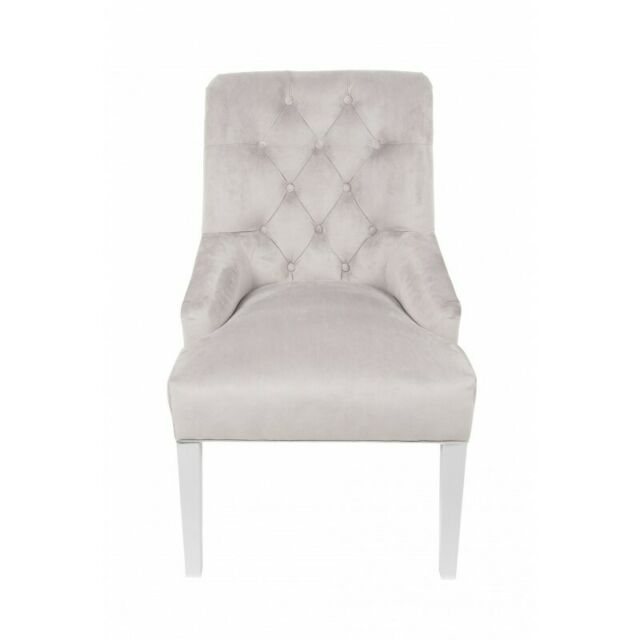 Classic Chesterfield Pads Armchair Chair 1 Seat Lehn Sühle Grey Textile Ebay
