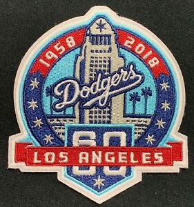 Image is loading LOS-ANGELES-DODGERS-60TH-ANNIVERSARY-JERSEY-PATCH-IRON- bc39ef68708