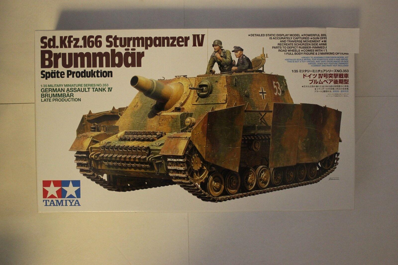 TAMIYA 35353 Sd.kfz.166 Sturmpanzer IV 'Brummbar' 1 35 Tank Model Kit