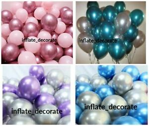 10-034-Metallic-Pearl-Chrome-Latex-Balloons-for-Wedding-Birthday-Party-10-30PCS-UK